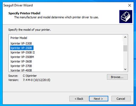 Driver máy in Xprinter 350B download và cài đặt