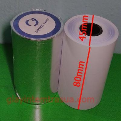 giấy in nhiệt k80x45mm mực xanh
