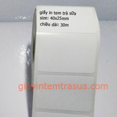 Giấy in tem trà sữa (40x25)mm