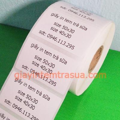 Giấy in tem trà sữa (50x30)mm